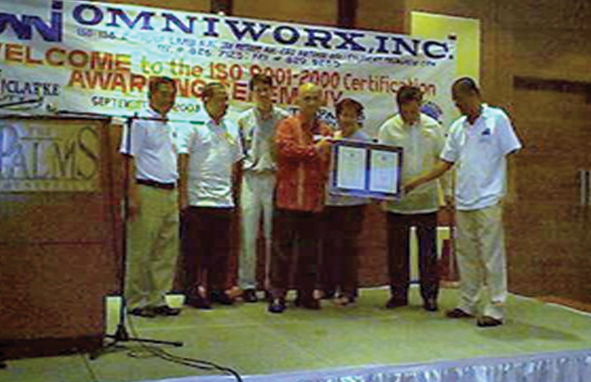 September 3 2003 - Omniworx was awarded the certification to ISO 9001:2000.